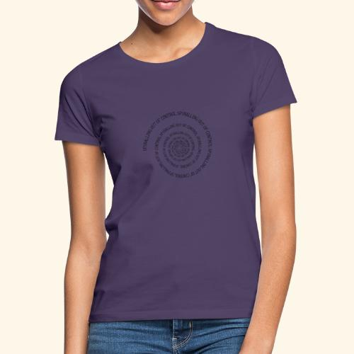 SPIRAL TEXT LOGO BLACK IMPRINT - Women's T-Shirt