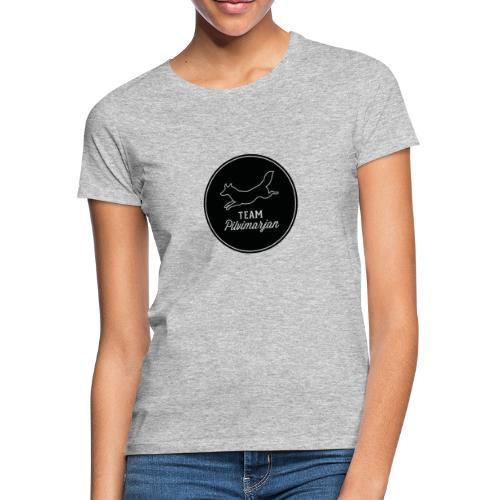 pilvimarjanlogomustaa - Naisten t-paita