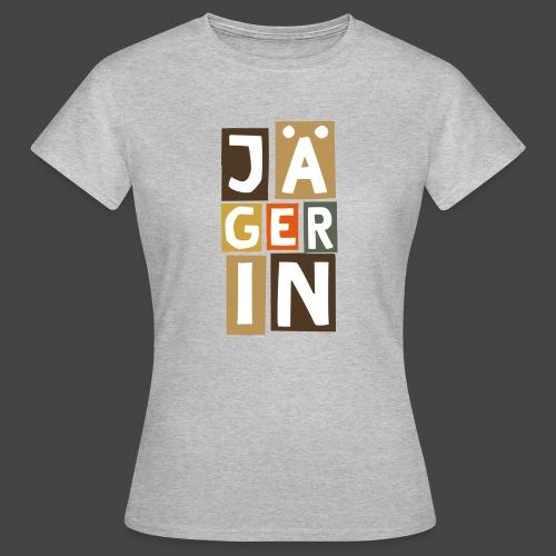 Die Jägerin in Blöcken - original Jägershirt - Frauen T-Shirt
