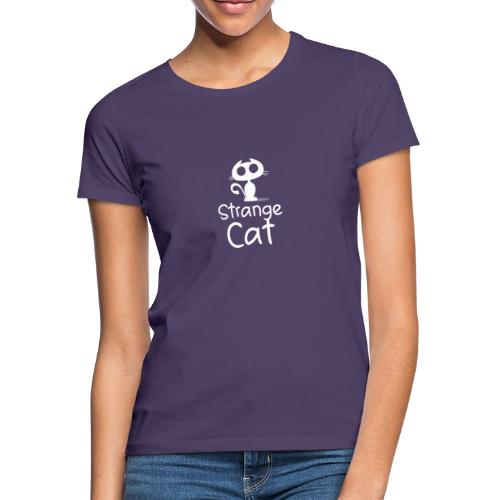 Strange Cat Blanc - T-shirt Femme