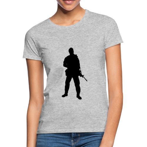 Swedish soldier + SWE Flag - T-shirt dam