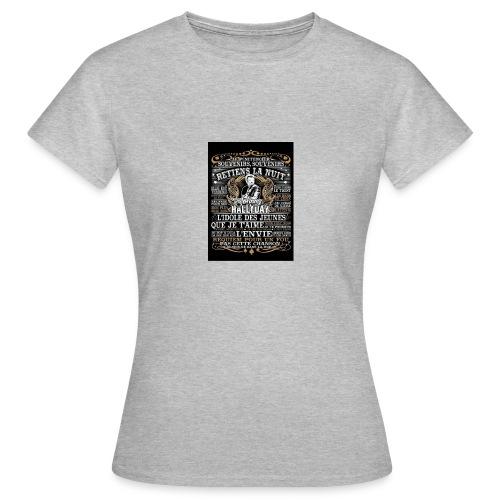 Johnny hallyday diamant peinture Superstar chanteu - T-shirt Femme