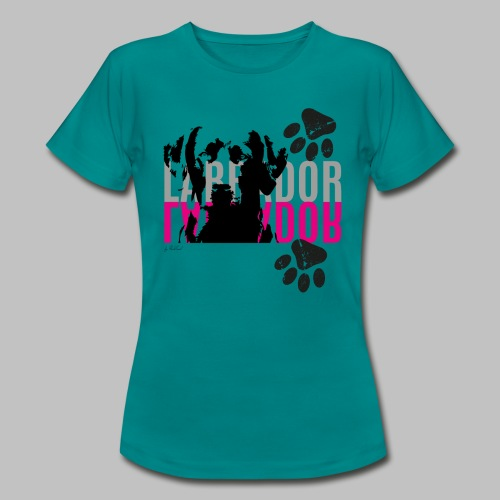 Labrador Kopf Pfoten - Frauen T-Shirt