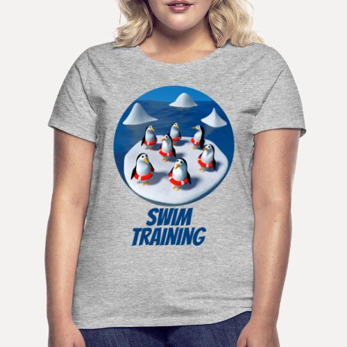 Pinguine beim Schwimmunterricht - Women's T-Shirt