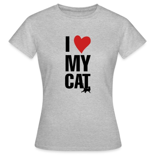 I_LOVE_MY_CAT-png - Camiseta mujer