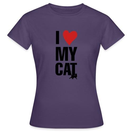 I_LOVE_MY_CAT-png - Camiseta mujer