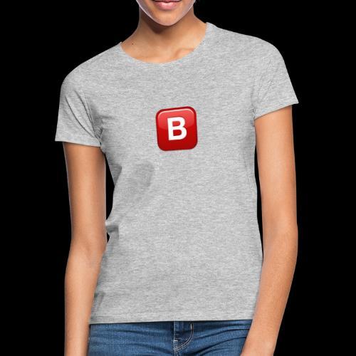 ios emoji negative squared latin capital letter b - Maglietta da donna