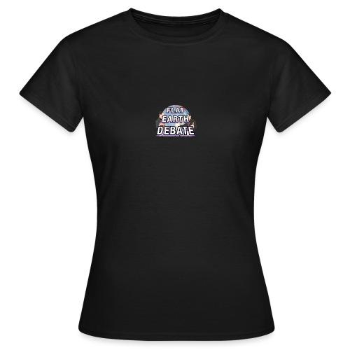 Flat Earth Debate Solid - Women's T-Shirt