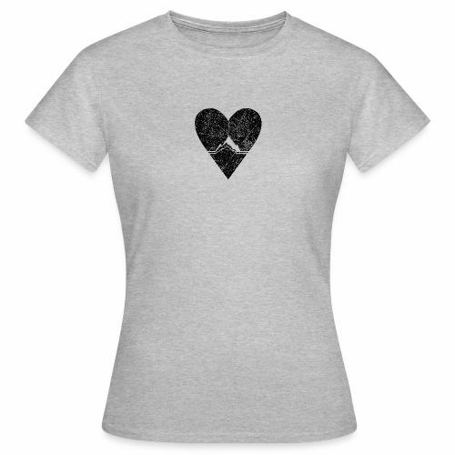 Bergliebe - used / vintage look - Frauen T-Shirt