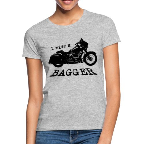 I ride a bagger - sort - Dame-T-shirt