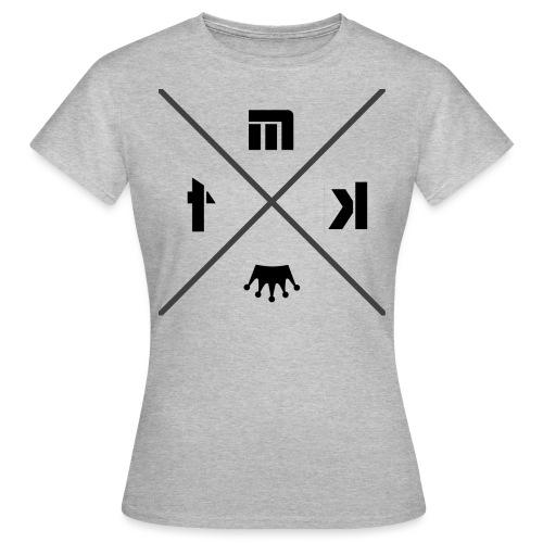 logo MTK croix renverser gris png - T-shirt Femme