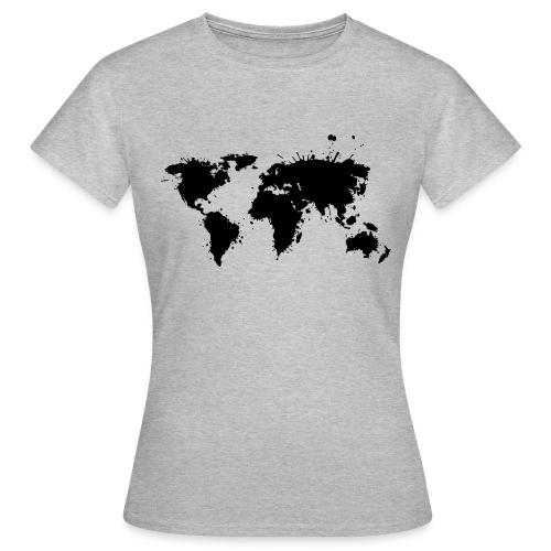 Weltkarte Splash - Frauen T-Shirt