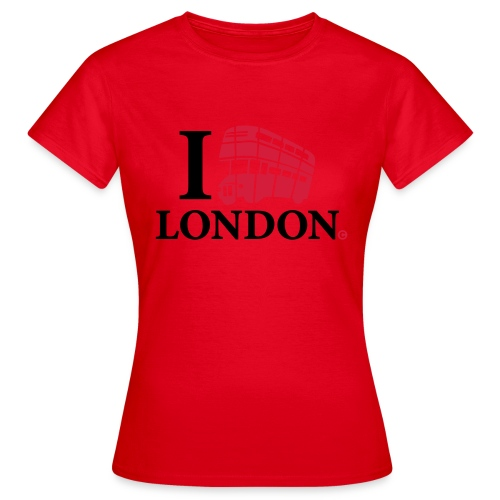 I love (Double-decker bus) London - Women's T-Shirt