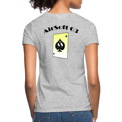 AS03 logo noir classic - T-shirt Femme
