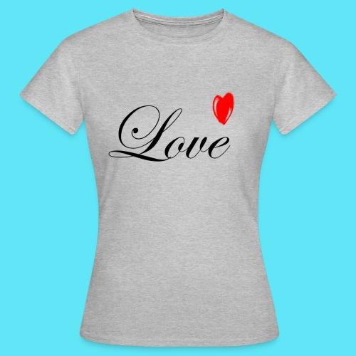 Love met rood hartje - Vrouwen T-shirt