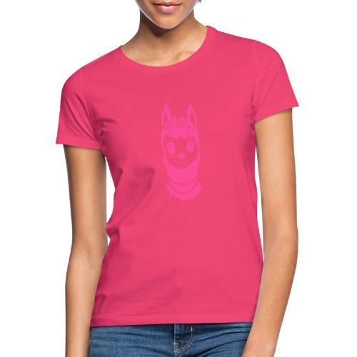 Alpaca meisje met parels - Vrouwen T-shirt