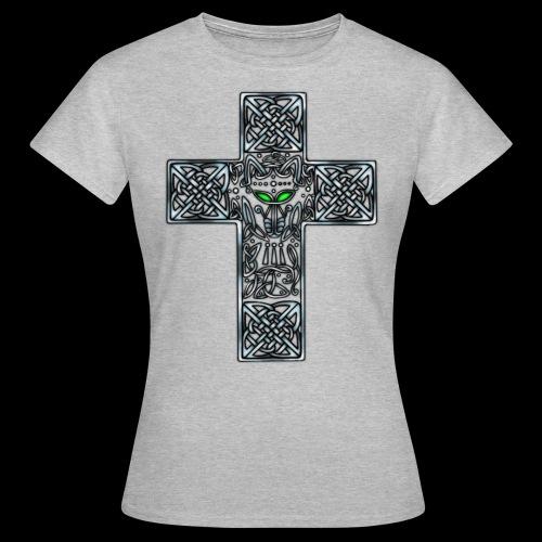 Wolf s Head Cross Silver - Women's T-Shirt