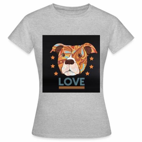 PIT BULL TERRIER HEAD LOVE DOG T-SHIRT DESIGN - Women's T-Shirt