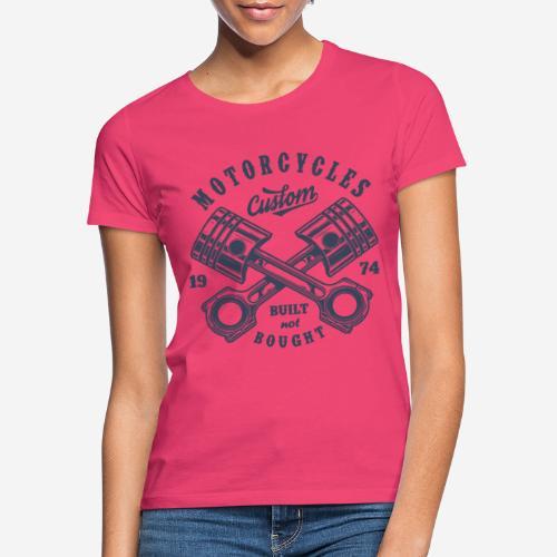 Motorrad benutzerdefinierte Vintage Biker - Frauen T-Shirt