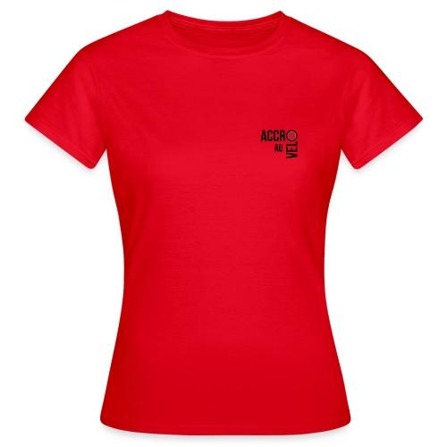 New logo accro au velo PNG - T-shirt Femme