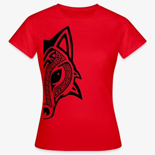 Celtic Wolf half - Women's T-Shirt