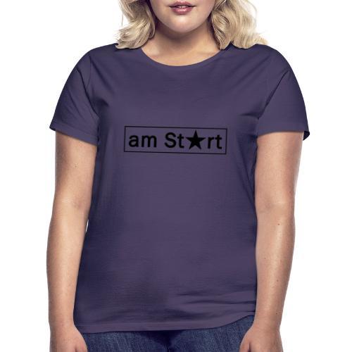 am start stern schwarz - Frauen T-Shirt