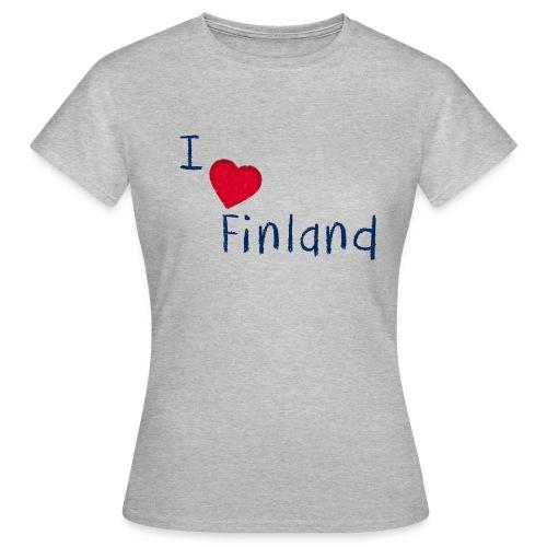 I Love Finland - Naisten t-paita
