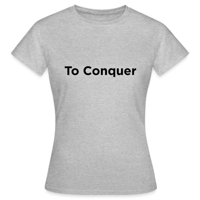 """veroveren in het Engels """"to conquer"""""""