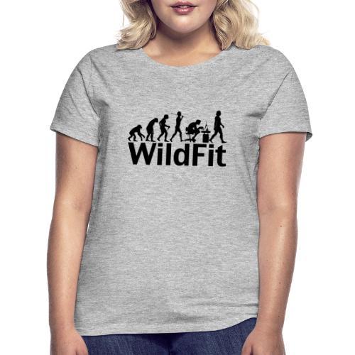 WildFit Logo Evolution in Schwarz - Frauen T-Shirt