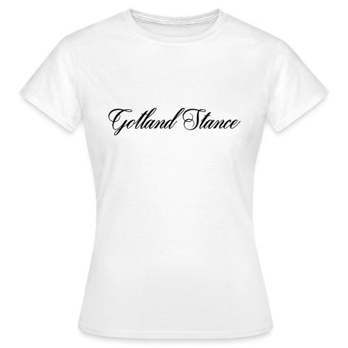 Gotland Stance Svart - T-shirt dam