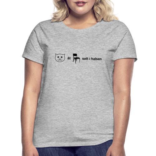 Katt åt stol - T-shirt dam