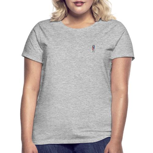 2 People Walking Isolated - Dame-T-shirt
