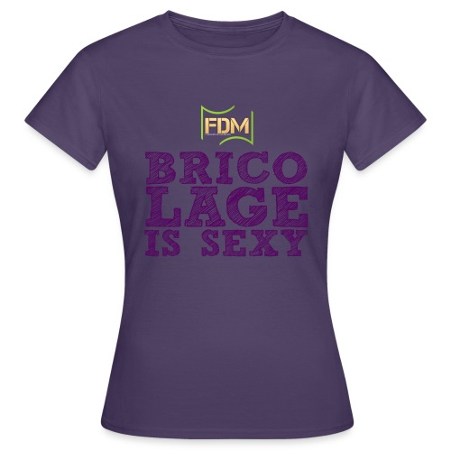 Bricolage is sexy violet png - T-shirt Femme