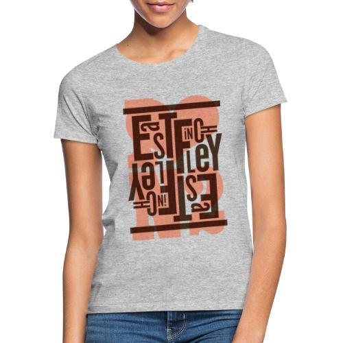 East Finchley Stacked Typography - Women's T-Shirt