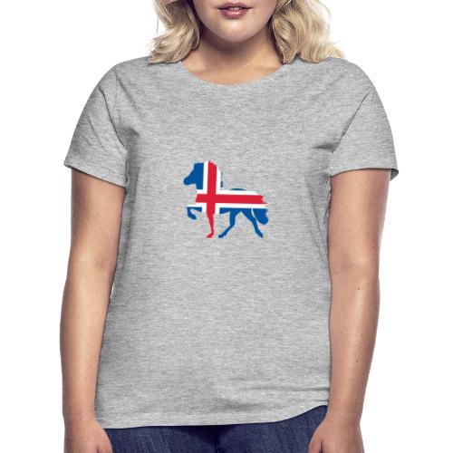 Island Pferd mit Flagge - Frauen T-Shirt