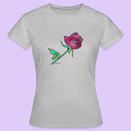Diseño rose - Camiseta mujer