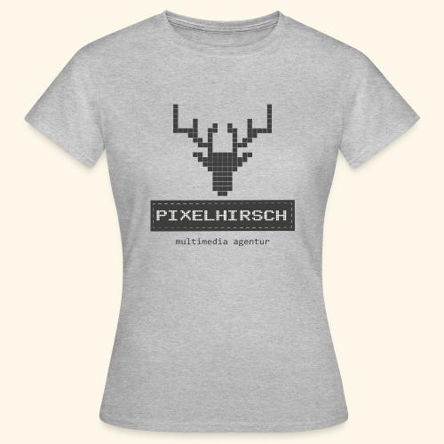 PIXELHIRSCH - grau - Frauen T-Shirt