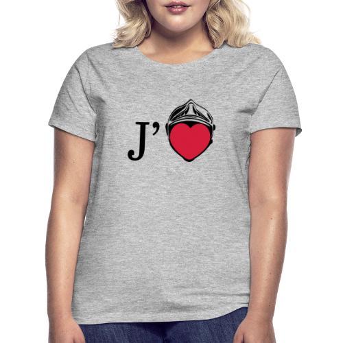j aime les pompiers - T-shirt Femme