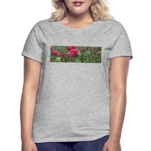 Blühendes Mohnfeld - Frauen T-Shirt