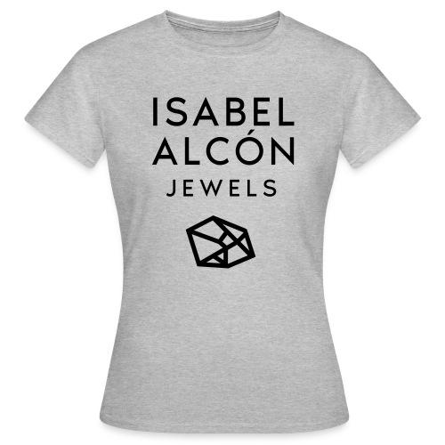 ISABEL ALCÓN JEWELS - BLACK SQUARE LOGO - Camiseta mujer