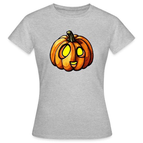 Pumpkin Halloween watercolor scribblesirii - Naisten t-paita