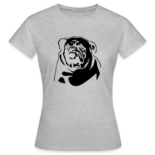 English Bulldog - negative - Naisten t-paita