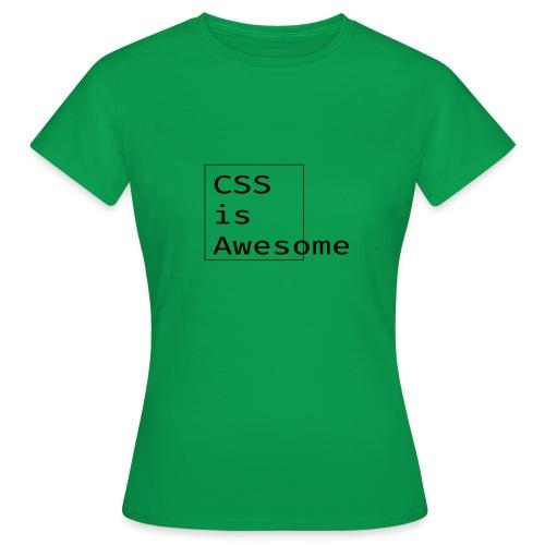 cssawesome - black - Vrouwen T-shirt
