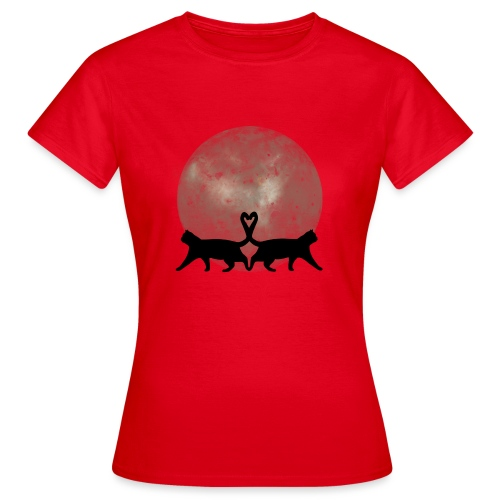 Cats in the moonlight - Vrouwen T-shirt