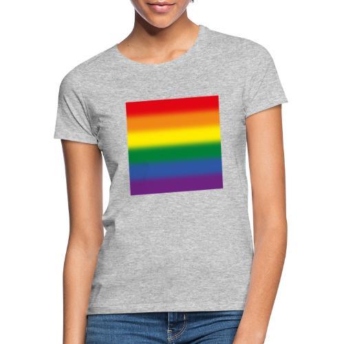 Verschwommene LGBT Flagge - Frauen T-Shirt