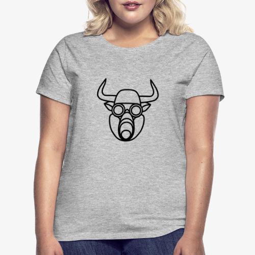 Stier mit Gasmaske - Frauen T-Shirt