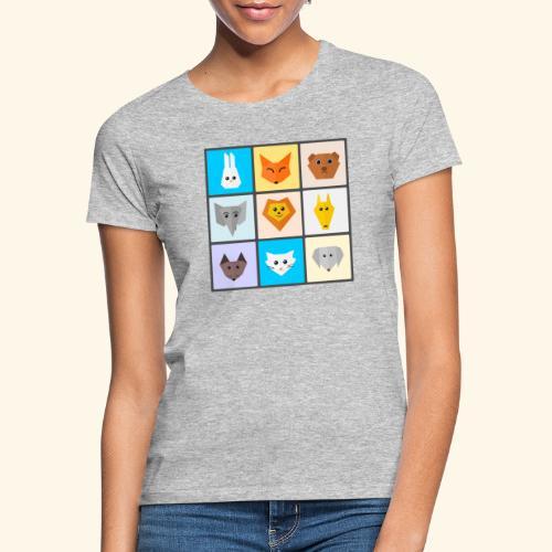 animales dibujos - Camiseta mujer