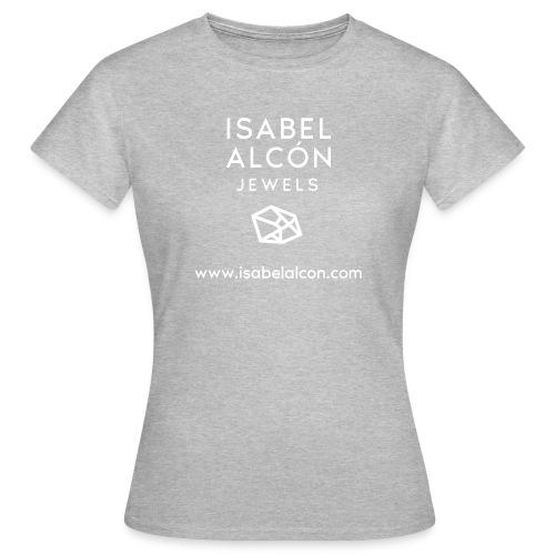 WHITE SQUARE LOGO - Camiseta mujer