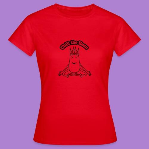 Chill the Bean black outline - Women's T-Shirt