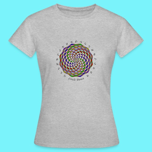 Mandala with Circle Dance words and glyphs - Women's T-Shirt
